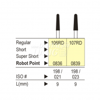 Diamond point FG (Regular) #106RD, 107RD