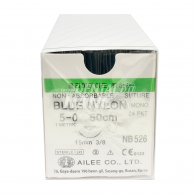 Blue Nylon 5-0 각침,원침