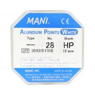 Alundum points (white)-HP/CA