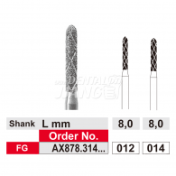 Duo Rapid Grinder (cooling Diamond Bur) FG #AX878