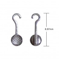 Lingual Button (Mesh) with Hook