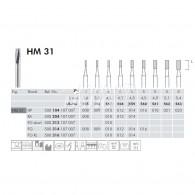 Tungsten Carbide Burs FG XL #HM31-012 (US 558)