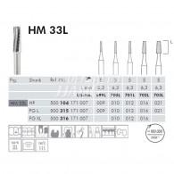 Tungsten Carbide Burs FG L #HM33L