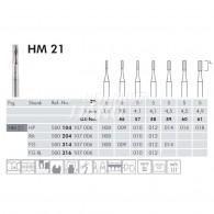 Tungsten Carbide Burs HP #HM21