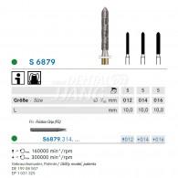 S Diamond bur FG (Long parallel chamfer Torpedo) #S6879