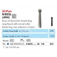 Z-Cut (Zirconia Diamond Point FG) #K802L-021-M
