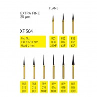 Gold Diamond Burs (Extra Fine) #853, 852, 858, 859