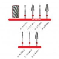 Denture Bur #Fine (Red Ring)