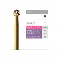 Gold Finishing Burs FG (Round) #7006-018