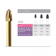 Gold Finishing Burs FG (Egg) #7404,7406,7408