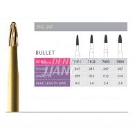 Gold Finishing Burs FG (Bullet) #7801-009
