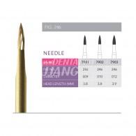 Gold Finishing Burs FG (Needle) #7901-009